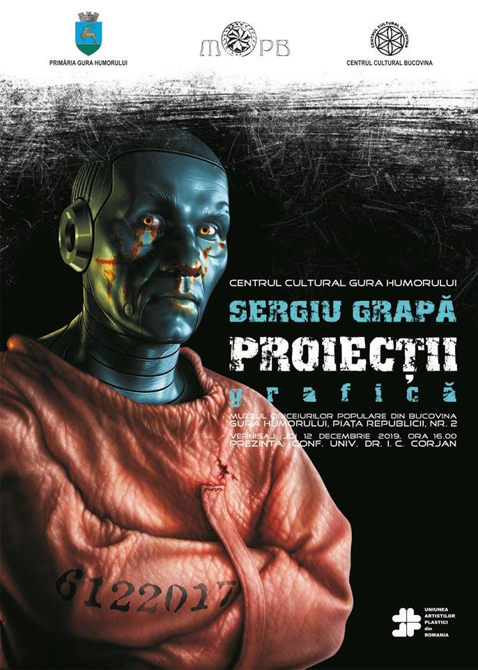 """Proiectii"" exhibition poster 2019"